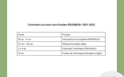 Abierta la inscripción para participar en la movilidad Erasmus+ 2021